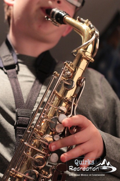 Saxophone as part of the family band