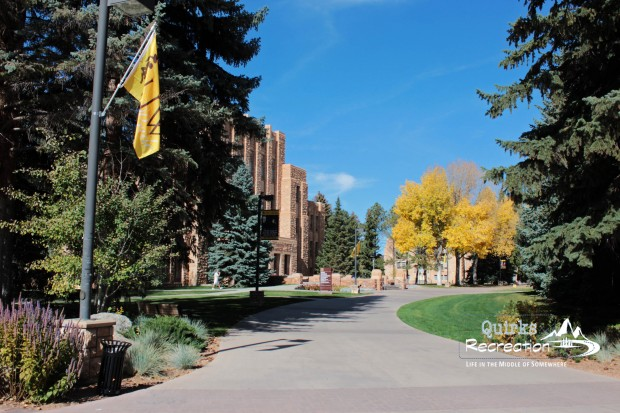 Fall colors in front of University of Wyoming A&S College